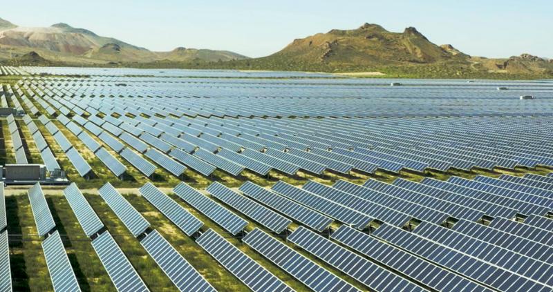 Solar Panels Field in the Desert